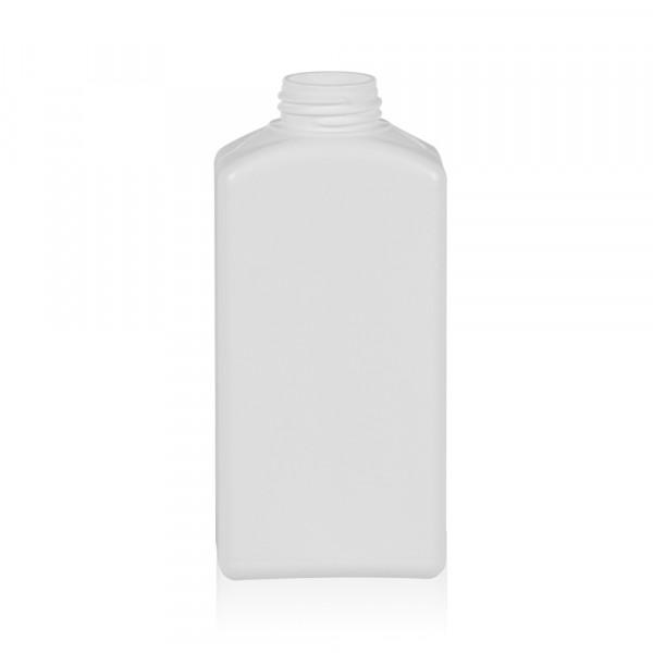 250 ml Flasche Standard Square HDPE weiß 28.410