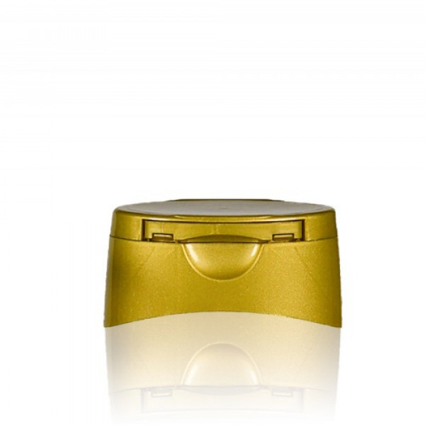 Klappdeckelverschluss Honey gold 25mm