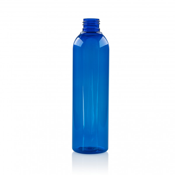 250 ml Flasche Basic Round PET Blau 24.410