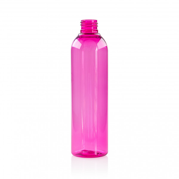 250 ml Flasche Basic Round PET Pink 24.410