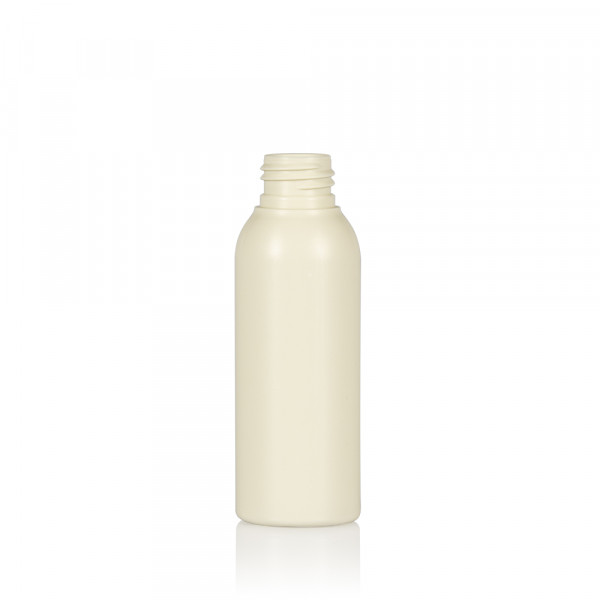 100 ml Flasche Basic Round Recyclyet HDPE Ivory 24.410