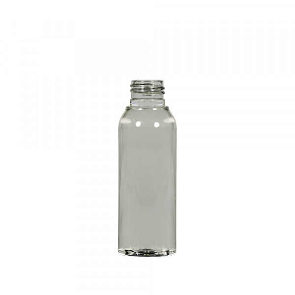 100 ml Flasche Basic Round Recyclet PET transparent 24.410
