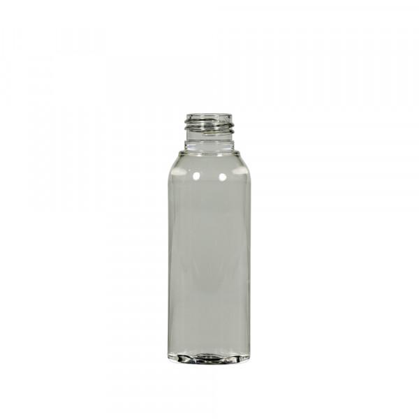 100 ml Flasche Basic Round Recyclet PET transparent 24.410