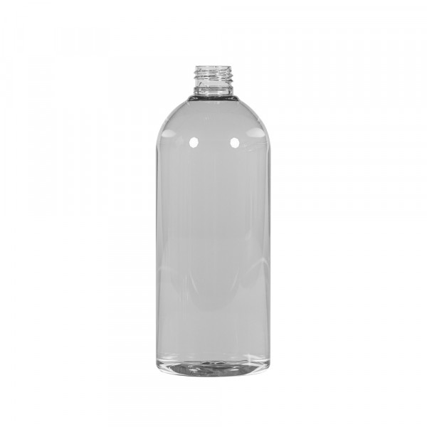 500 ml Flasche Basic Round Recyclet PET transparent 24.410