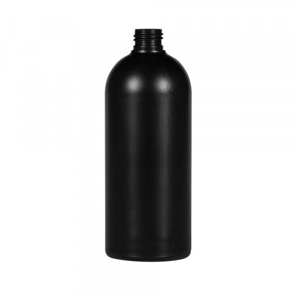 500 ml Flasche Basic Round HDPE schwarz 24.410