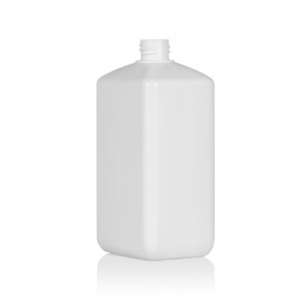 1000 ml Flasche Standard Square HDPE weiß 28.410