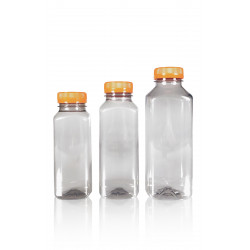 100% Recycelt Juice Square R-PET Flaschen