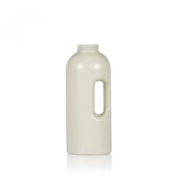 1000 ml Dosierflasche Compact Round recycelten HDPE ivory One2dose D43