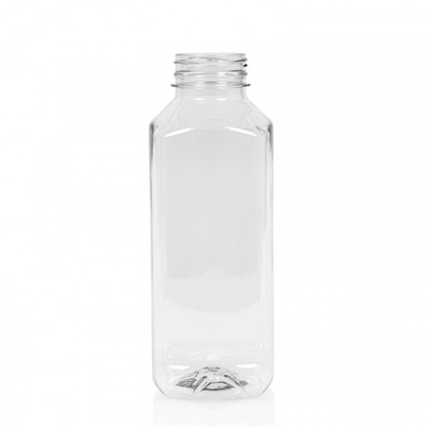 1000 ml Saftflasche Juice Square PET transparent