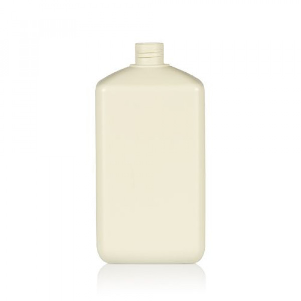 1000 ml Flasche Standard Square recycelten HDPE ivory 28.410