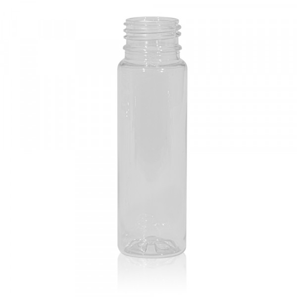 100 ml Saftflasche Juice mini shot PET transparent 28PCO