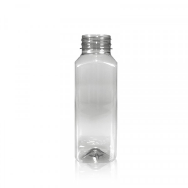 330 ml Saftflasche Juice Square gerecycled R-PET transparent
