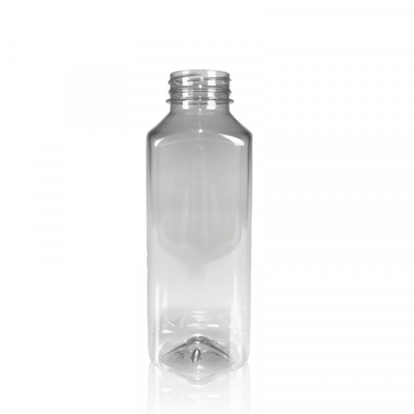 500 ml Saftflasche Juice Square gerecycled R-PET transparent