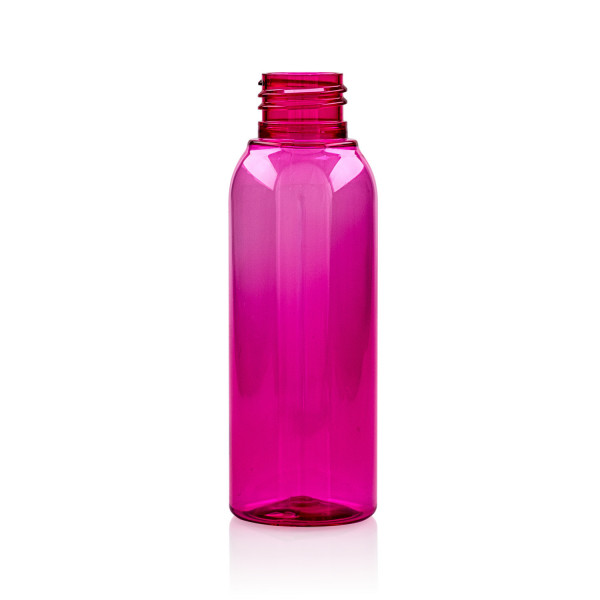100 ml Flasche Basic Round PET rosa 24.410