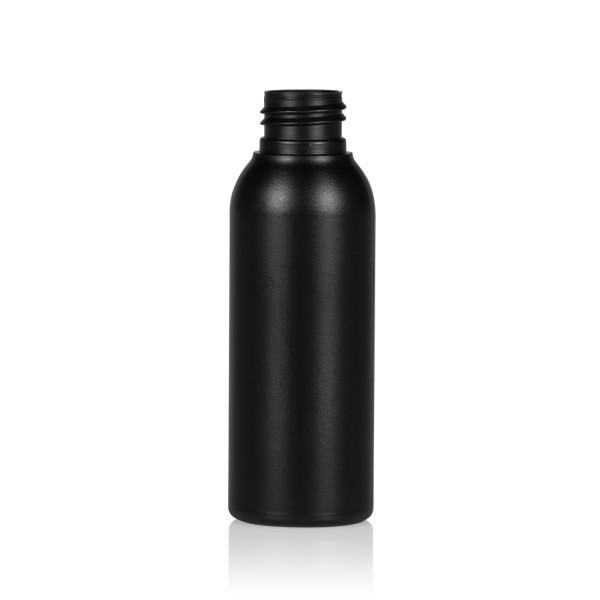 100 ml Flasche Basic Round HDPE schwarz 24.410