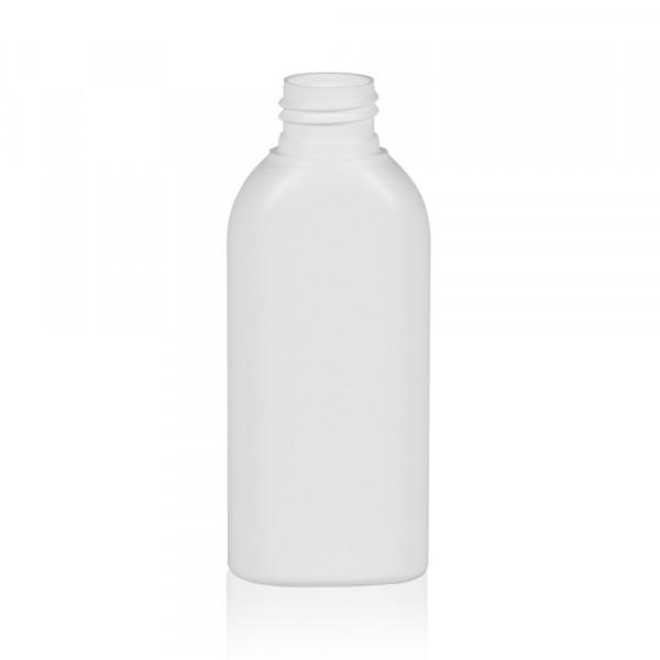 100 ml Flasche Basic Oval HDPE weiß 24.410