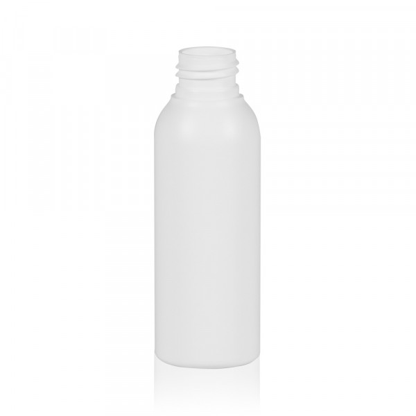 100 ml Flasche Basic Round HDPE weiß 24.410
