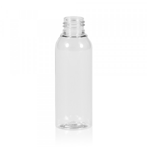 100 ml Flasche Basic Round PET transparent 24.410