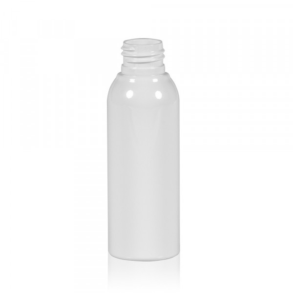 100 ml Flasche Basic Round PET weiß 24.410