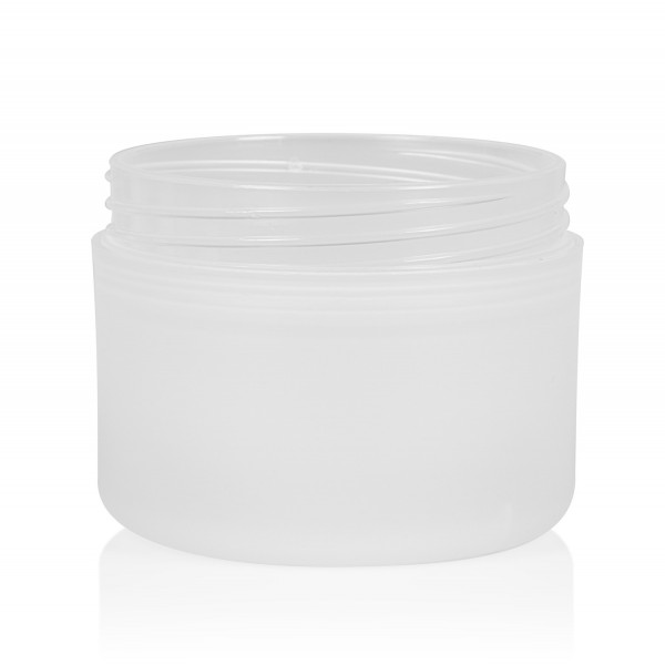100 ml Tiegel Frosted Soft PP natur dubbelwand
