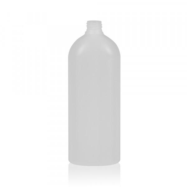 1000 ml Flasche Basic Oval HDPE weiß 28.410