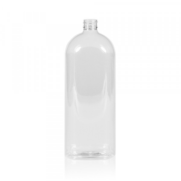 1000 ml Flasche Basic Oval PET transparent 28.410