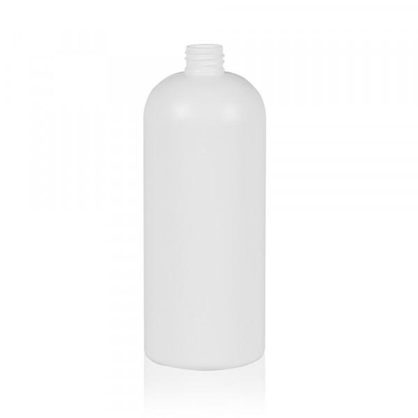 1000 ml Flasche Basic Round HDPE weiß 28.410
