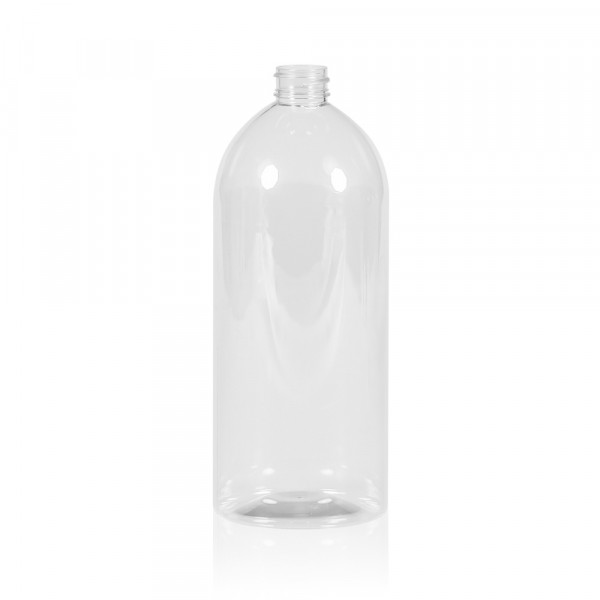 1000 ml Flasche Basic Round PET transparent 28.410