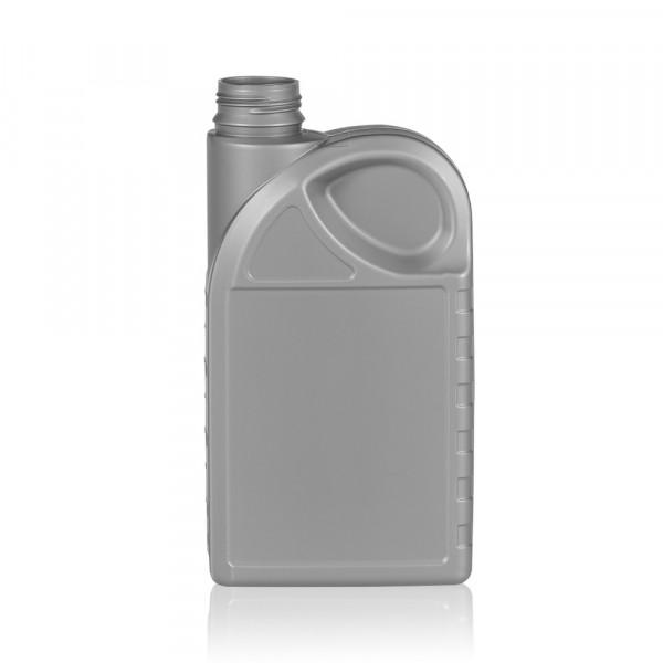 1000 ml Flasche Oil HDPE silber