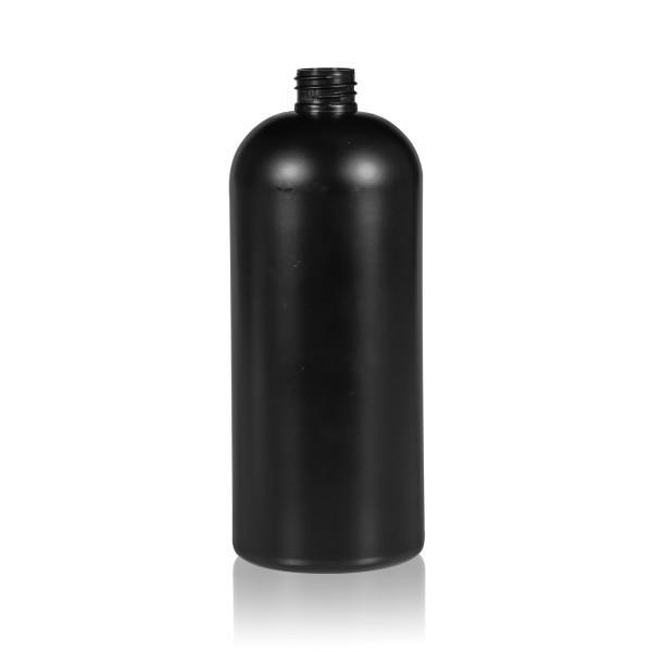 1000 ml Flasche Basic Round HDPE schwarz 28.410