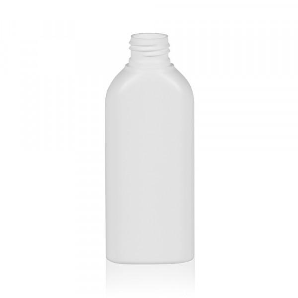 125 ml Flasche Basic Oval HDPE weiß 24.410