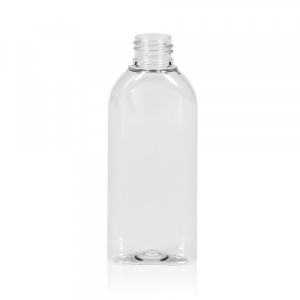 125 ml Flasche Basic Oval PET transparent 24.410
