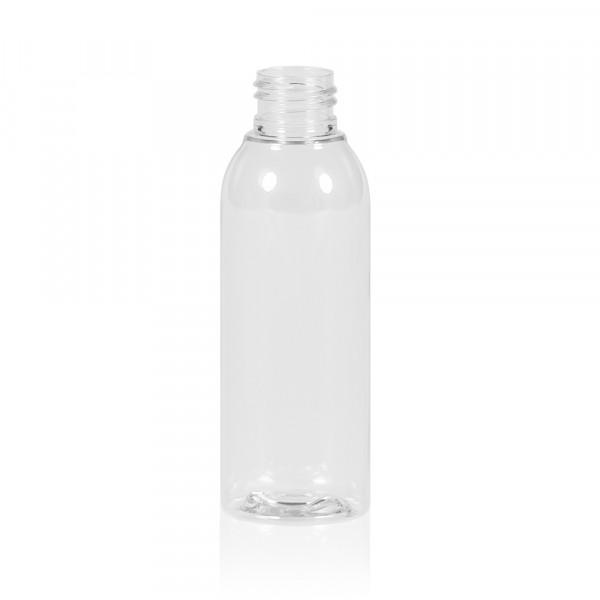 125 ml Flasche Basic Round PET transparent 24.410