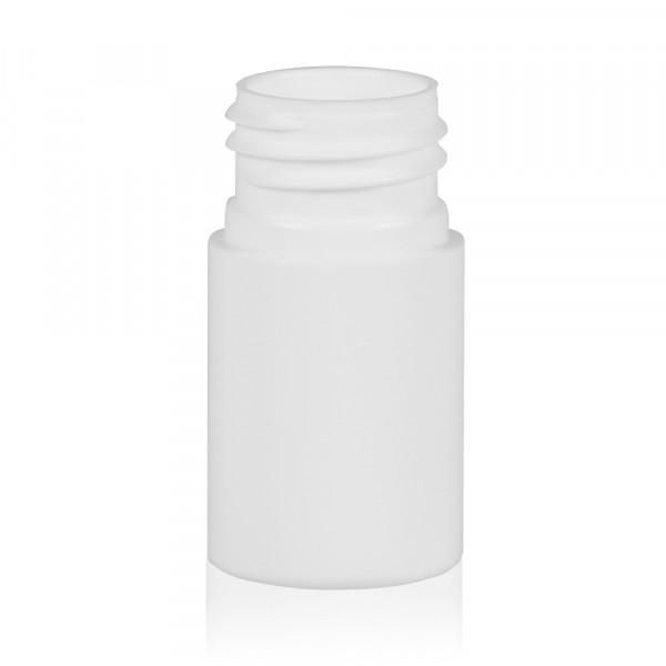 15 ml Flasche Basic Round HDPE weiß 24.410