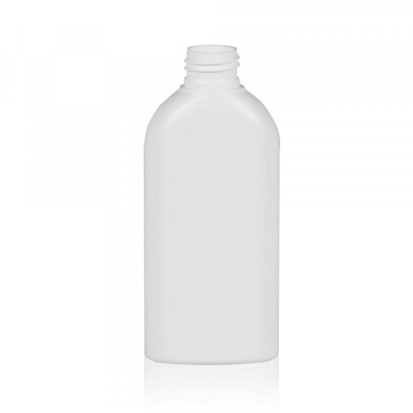 150 ml Flasche Basic Oval HDPE weiß 24.410