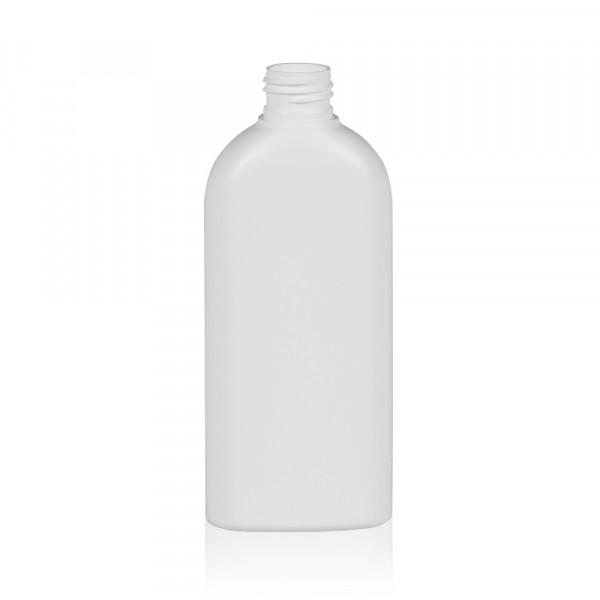 200 ml Flasche Basic Oval HDPE weiß 24.410