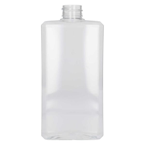 500 ml flasche Basic Rectangle PET Transparent
