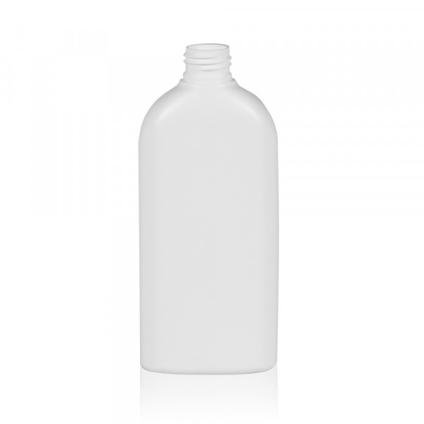 250 ml Flasche Basic Oval HDPE weiß 24.410