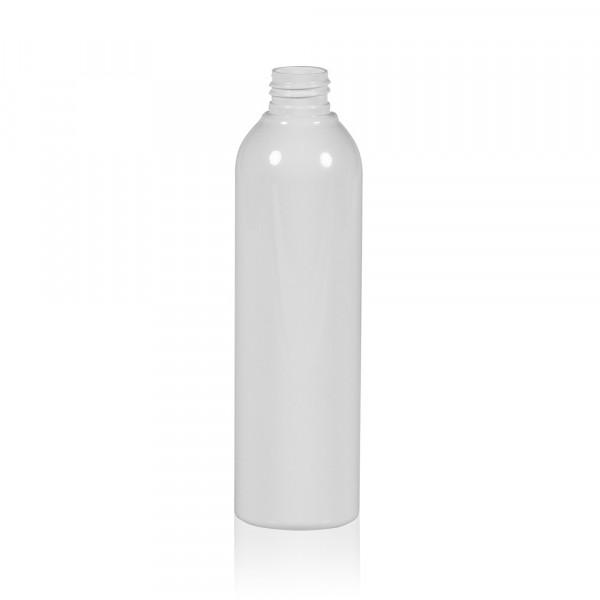 250 ml Flasche Basic Round PET weiß 24.410