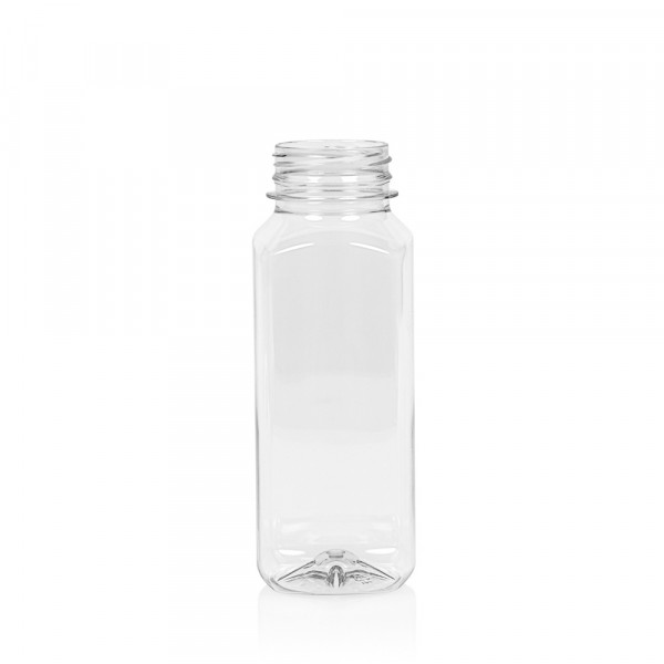 250 ml Saftflasche Juice Square PET transparent