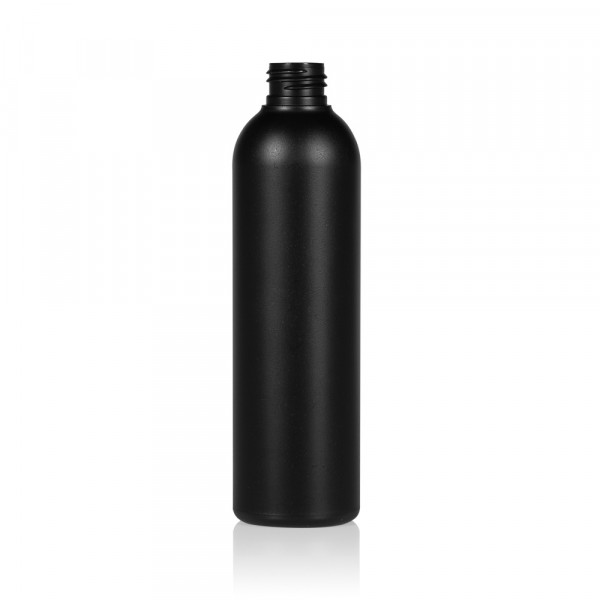 250 ml Flasche Basic Round HDPE schwarz 24.410