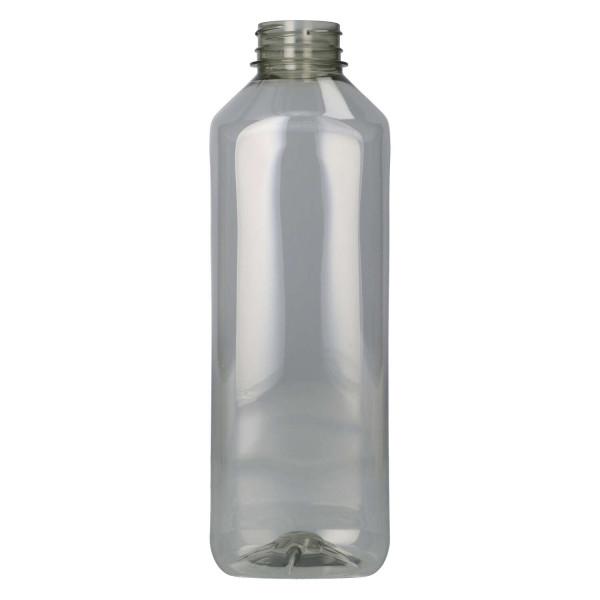 1000 ml Saftflasche Juice Square Gerecycled R-PET Transparent