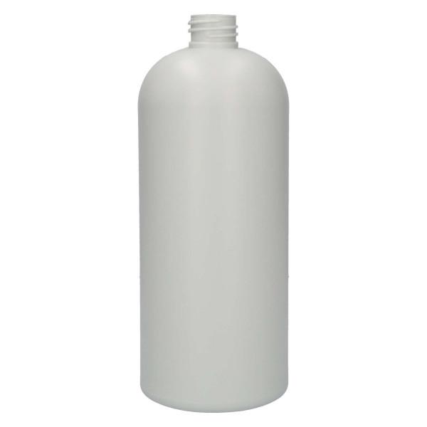1000 ml Flasche Basic Round Recyclyet HDPE Ivory 28.410