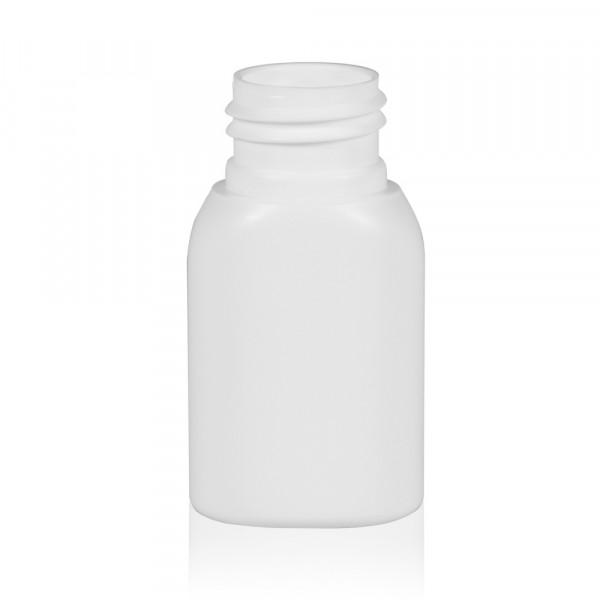 30 ml Flasche Basic Oval HDPE weiß 24.410