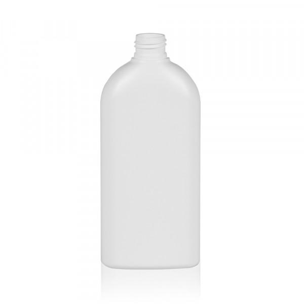 300 ml Flasche Basic Oval HDPE weiß 24.410