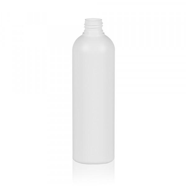 300 ml Flasche Basic Round HDPE weiß 24.410