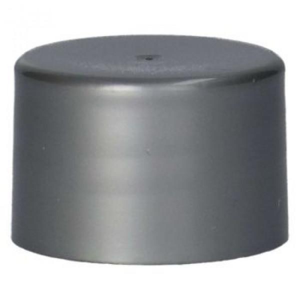 Glatte Schraubverschluss PP Silber 28.410