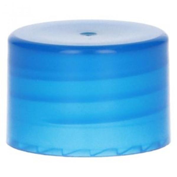 Glatte Schraubverschluss PP Blau 28.410