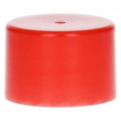 Glatte Schraubverschluss PP Rot 28.410