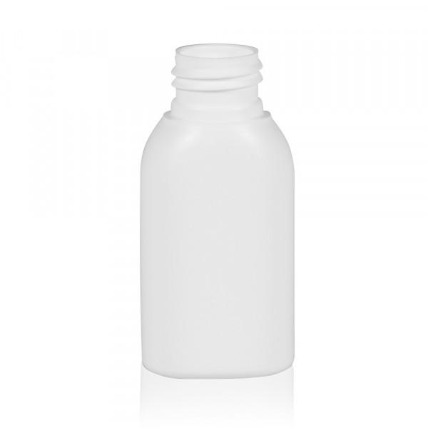 50 ml Flasche Basic Oval HDPE weiß 24.410